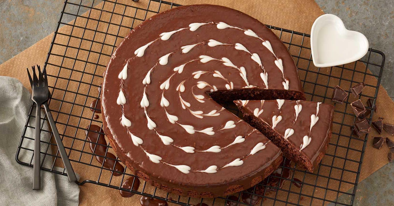 Chokladkaka med hjärtan för valentines med Toppits