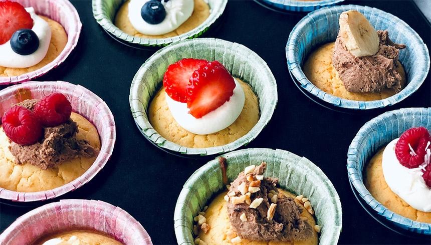 Goda pannkaksmuffins i muffinsformar med Toppits®