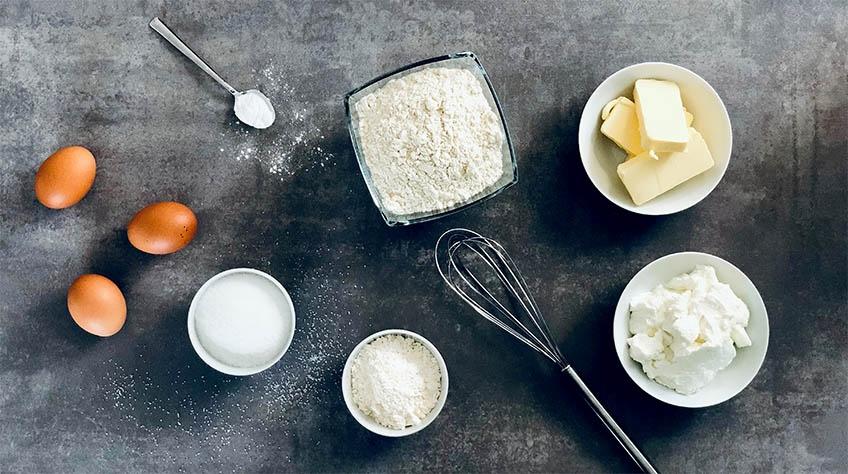Ingredienser till cheesecakemuffins