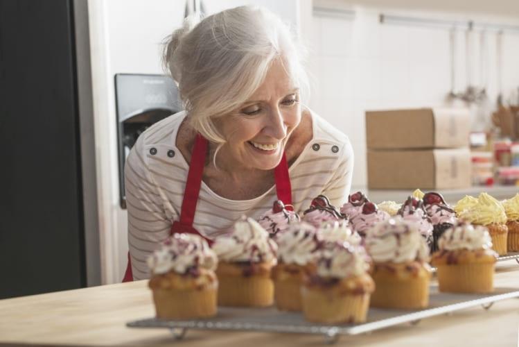 Muffins som bakats med Toppits stabila muffinsformar