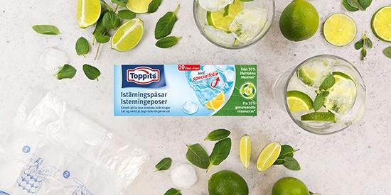 Toppits® Istärningspåsar med isbitar och citron
