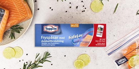 Toppits® Safeloc® - fryspåsar med zip