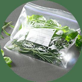Ziploc® fryspåse med sallad